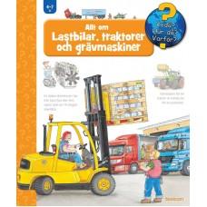Lastbilar, traktorer och grävmaskiner